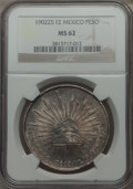 Mexico, Mexico: Republic Peso 1902 Zs-FZ MS62 NGC,...