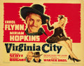 "Movie Posters:Western, Virginia City (Warner Brothers, 1940). Title Lobby Card (11"" X 14""). ..."