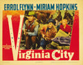 """Movie Posters:Western, Virginia City (Warner Brothers, 1940). Lobby Cards (2) (11"""" X 14"""").... (Total: 2 Items)"""