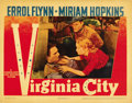 "Movie Posters:Western, Virginia City (Warner Brothers, 1940). Lobby Cards (2) (11"" X 14"").... (Total: 2 Items)"