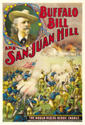 "Movie Posters:Western, Buffalo Bill and San Juan Hill (Theatrical Poster, 1902). One Sheet(28"" x 42""). ..."