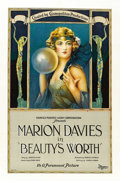 "Movie Posters:Drama, Beauty's Worth (Paramount, 1922). One Sheet (27"" X 41""). ..."