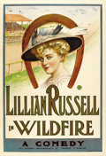 "Movie Posters:Drama, Wildfire (Theatrical Poster, c. 1906-1908). One Sheet (28"" X 41"")...."