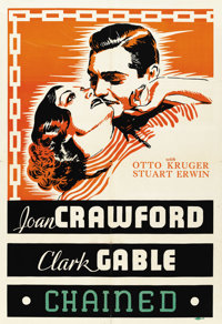 "Chained (MGM, 1934). Leader Press One Sheet (27"" X 41"")"
