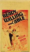 """Movie Posters:Musical, Ready, Willing and Able (Warner Brothers, 1937). Midget Window Card (8"""" X 14""""). ..."""