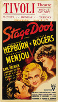 "Movie Posters:Drama, Stage Door (RKO, 1937). Midget Window Card (8"" X 14""). ..."