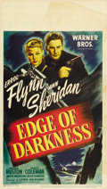 "Movie Posters:War, Edge of Darkness (Warner Brothers, 1943). Midget Window Card (8"" X14""). ..."