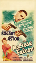 "Movie Posters:Film Noir, The Maltese Falcon (Warner Brothers, 1941). Midget Window Card (8""X 14""). ..."