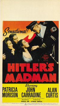 "Hitler's Madman (MGM, 1943). Midget Window Card (8"" X 14"")"