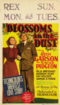 """Movie Posters:Drama, Blossoms in the Dust (MGM, 1941). Midget Window Card (8"""" X 14"""")...."""