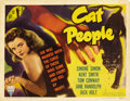 "Movie Posters:Horror, Cat People (RKO, 1942). Title Lobby Card (11"" X 14""). ..."