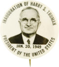 """Political:Pinback Buttons (1896-present), Harry S. Truman: 1949 1¾"""" Inaugural Button...."""