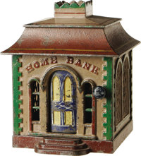 """""""Home Bank"""" Mechanical Bank - Without Dormers"""
