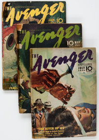 The Avenger Group of 4 (Street & Smith, 1940-42) Condition: Average GD-.... (Total: 4 Items)