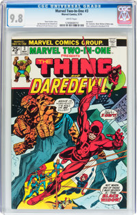 Marvel Two-In-One #3 The Thing and Daredevil (Marvel, 1974) CGC NM/MT 9.8 White pages