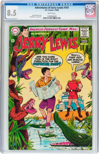 Adventures of Jerry Lewis #107 (DC, 1968) CGC VF+ 8.5 White pages