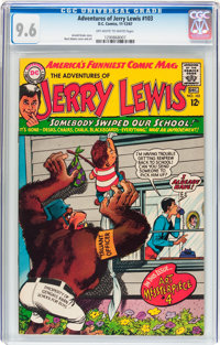 Adventures of Jerry Lewis #103 (DC, 1967) CGC NM+ 9.6 Off-white to white pages