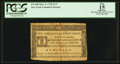 Colonial Notes:New York, New York March 5, 1776 $1/3 PCGS Apparent Fine 15.. ...