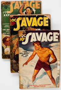 Doc Savage Group of 4 (Street & Smith, 1937-41) Condition: Average FR.... (Total: 4 Items)