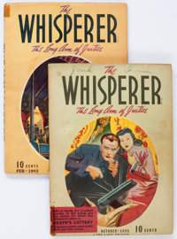 The Whisperer Group of 2 (Street & Smith, 1941-42) Condition: Average VG-.... (Total: 2 Items)