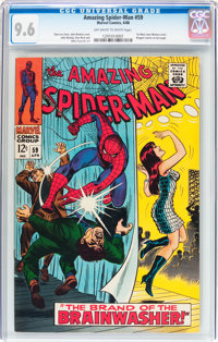 The Amazing Spider-Man #59 (Marvel, 1968) CGC NM+ 9.6 Off-white to white pages
