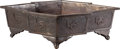 Asian:Japanese, A Japanese Meiji Period Bronze Planter, 19th century. 9-1/2 incheshigh x 34 inches wide (24.1 x 86.4 cm). ...