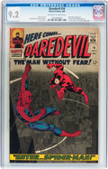 Silver Age (1956-1969):Superhero, Daredevil #16 (Marvel, 1966) CGC NM- 9.2 Off-white to white pages....