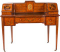 Furniture , A Painted Satinwood Carlton Desk, circa 1890. 40 inches high x 48 inches wide x 24 inches deep (101.6 x 121.9 x 61.0 cm). ...