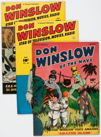 Don Winslow of the Navy Group of 8 Crowley File Copies (Fawcett Publications, 1946-51).... (Total: 8 Comic Books)