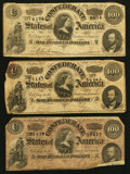 Confederate Notes:1864 Issues, T65 $100 1864.. ... (Total: 3 notes)