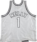 Music Memorabilia:Costumes, Nelly - Custom St. Louis Basketball Jersey (c. 2000s).... (Total: 2Items)