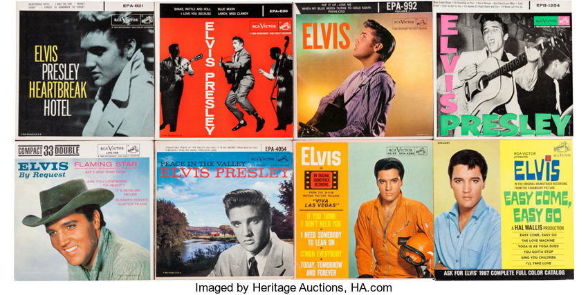Elvis Presley EP and 45 Singles w/Picture Sleeves Group of