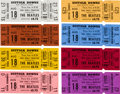 Music Memorabilia:Tickets, The Beatles: Group of Eight Unused Concert Tickets....
