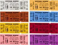 The Beatles: Group of Eight Unused Concert Tickets