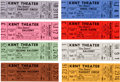 Music Memorabilia:Tickets, The Doors: Eight Unused Tickets....