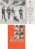 Music Memorabilia:Memorabilia, Beatles Australian Tour Official Souvenir Program and Australasian Tour Souvenir Music Album (Australia, 1964). ...