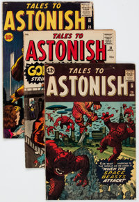 Tales to Astonish Group of 3 (Marvel, 1961-62) Condition: Average GD/VG.... (Total: 3 Comic Books)