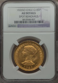 Chile, Chile: Republic gold 100 Pesos 1926-So AU Details (Spot Removals)NGC, ...