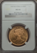 Chile, Chile: Republic gold 100 Pesos 1957-SO MS66 NGC,...