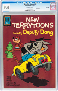 New Terrytoons #5 (Dell, 1961) CGC NM 9.4 Off-white pages