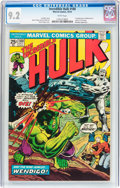 Bronze Age (1970-1979):Superhero, The Incredible Hulk #180 (Marvel, 1974) CGC NM- 9.2 White pages....