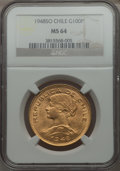 Chile, Chile: Republic gold 100 Pesos 1948-SO MS64 NGC,...