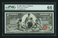 Large Size:Silver Certificates, Fr. 248 $2 1896 Silver Certificate PMG Choice Uncirculated 64 EPQ.. ...