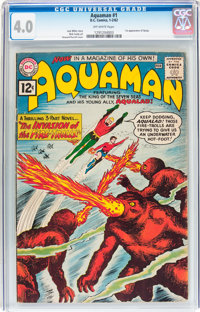 Aquaman #1 (DC, 1962) CGC VG 4.0 Off-white pages