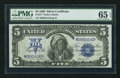 Large Size:Silver Certificates, Fr. 277 $5 1899 Silver Certificate PMG Gem Uncirculated 65 EPQ.....