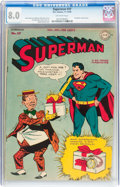 Golden Age (1938-1955):Superhero, Superman #37 (DC, 1945) CGC VF 8.0 Off-white pages....