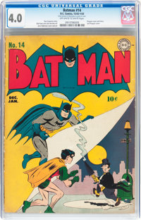 Batman #14 (DC, 1943) CGC VG 4.0 Off-white to white pages