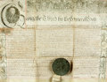 Autographs:Non-American, Land Indenture in the Reign of George the Third. Manuscript onvellum, dated 1768....
