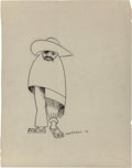 Fine Art - Work on Paper:Drawing, Miguel Covarrubias (Mexican, 1904-1957). Untitled, 1924. Inkand pencil on paper. 10-1/4 x 7-7/8 inches (26.0 x 20.0 cm)...