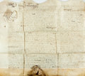 Autographs:Non-American, Land Indenture in the Reign of Charles the Second. Manuscript onvellum, dated October 5, 1667. ...